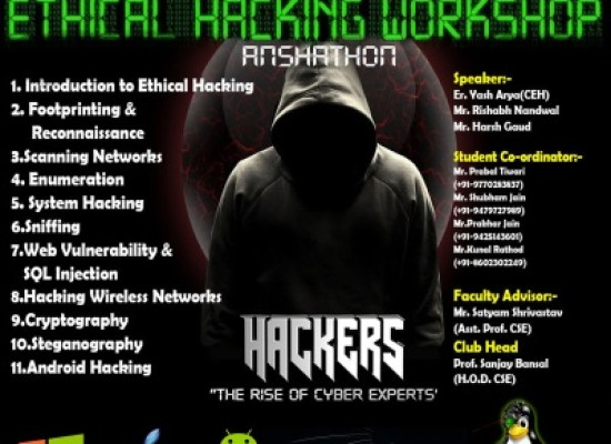 CSE Department Stablished Cyber Security Club to teach about Ethical Hacking