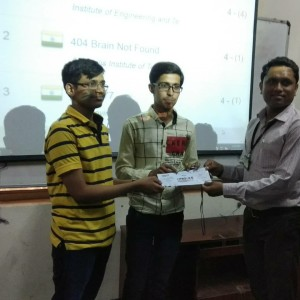 15-3-2018Hemant Mangani and Kapil Deshpande won 2nd prize at @CDGI